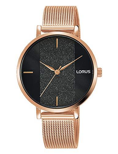 Lorus Damen Analog Quarz Uhr mit Metall Armband RG210SX9
