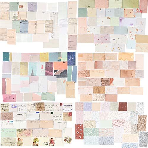 360 Blätter Scrapbooking Papier Klein Vintage Blumen Scrapbooking...