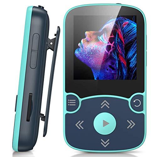 AGPTEK MP3 Player Bluetooth 5.0 Sport 32GB mit 1,5 Zoll TFT...