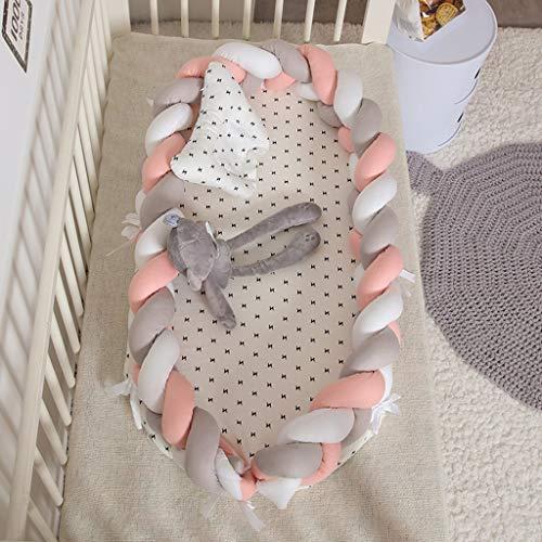 Geflochtene Krippe Stoßstange, Baby Kopfschutz Stoßstange Verknotet...