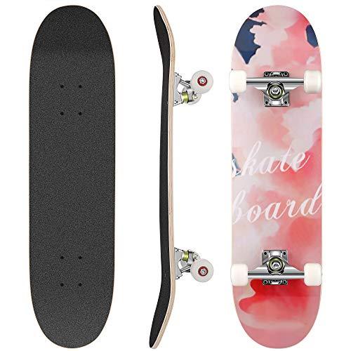 WeSkate Skateboard Komplett Board 79x20cm Holzboard ABEC-7 Kugellager...