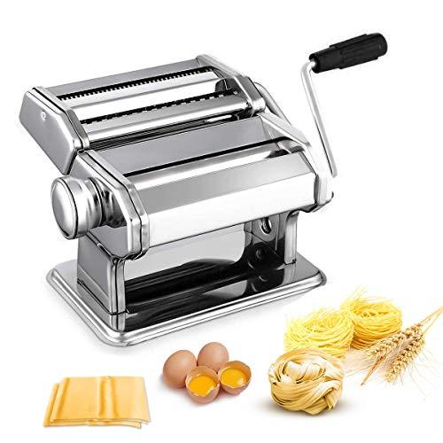 Nudelmaschine Pasta Maker Edelstahl Frische Manuell Pasta Walze...