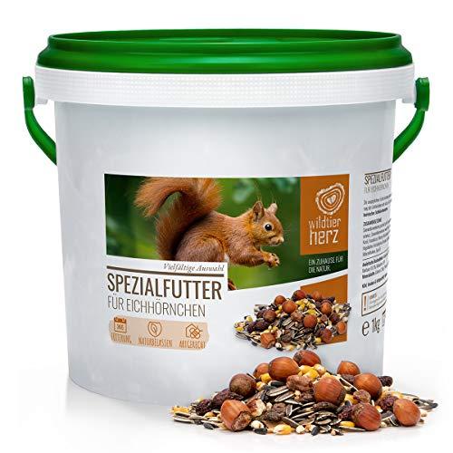 wildtier herz Artgerechtes Eichhörnchenfutter 1kg für Eichhörnchen...