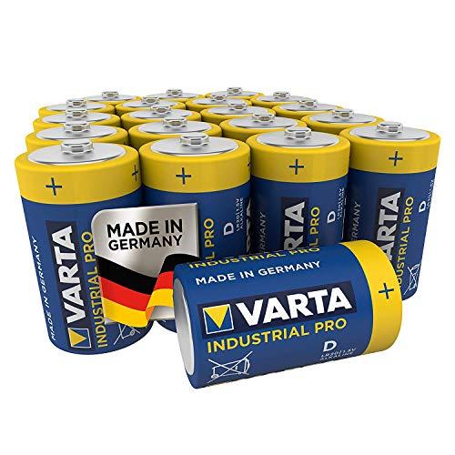 VARTA Industrial Batterie D Mono Alkaline Batterien LR20 - 20er pack,...