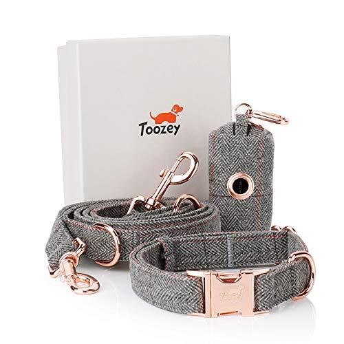 Toozey Hundeleine (2m) + Hundehalsband + Beutelspender im Set,...