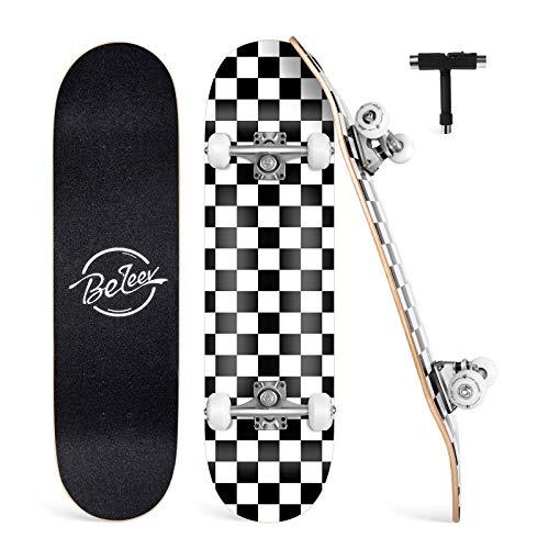 BELEEV Skateboard Erwachsene 31x8 Zoll Komplette Cruiser Skateboard...