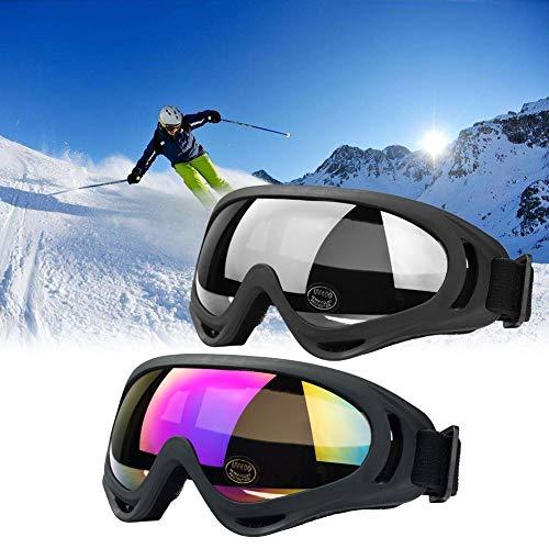 JTENG Motorrad Goggle Motocross Skibrille Sportbrille Wind Staubschutz...