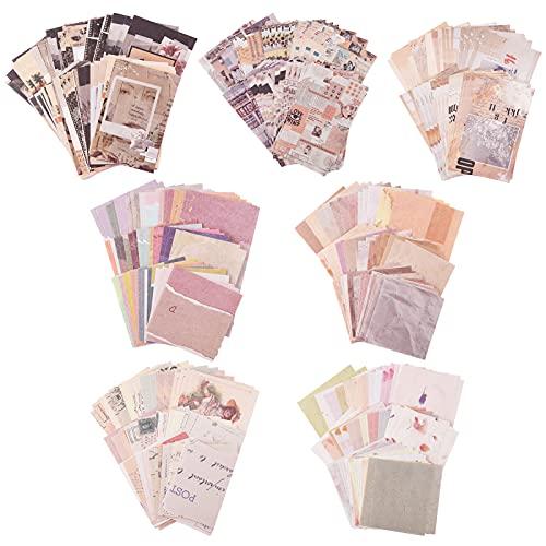 FANTESI 7 Stück Scrapbooking Papier, 390 Blätter Vintage Scrapbook...