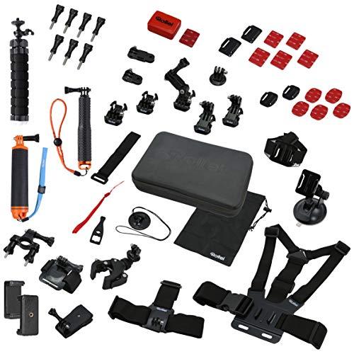 Rollei Actioncam Zubehör Set Sport XL - 49-teiliges Zubehör Set,...