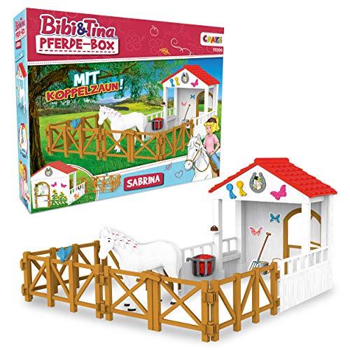 CRAZE BIBI & Tina Playset Horse Box Sabrina Pferdefiguren Spielfiguren...