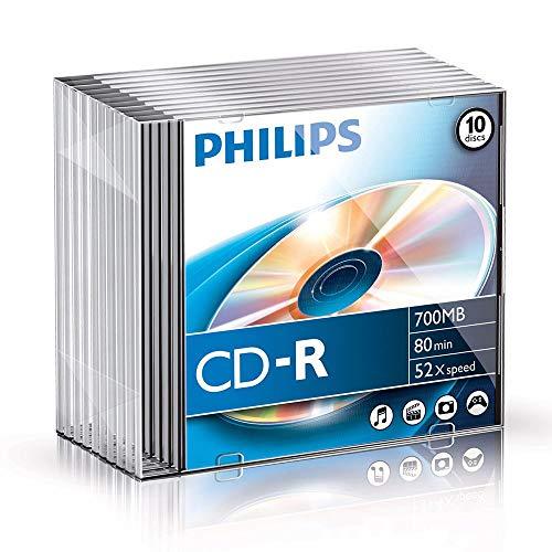 Philips CD-R Rohlinge (700 MB Data/ 80 Minuten, 52x High Speed...