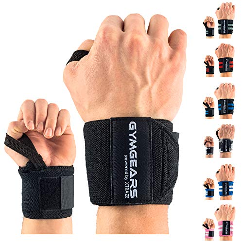 GYMGEARS Handgelenk Bandagen [2er Set] Wrist Wraps 45cm - Profi...