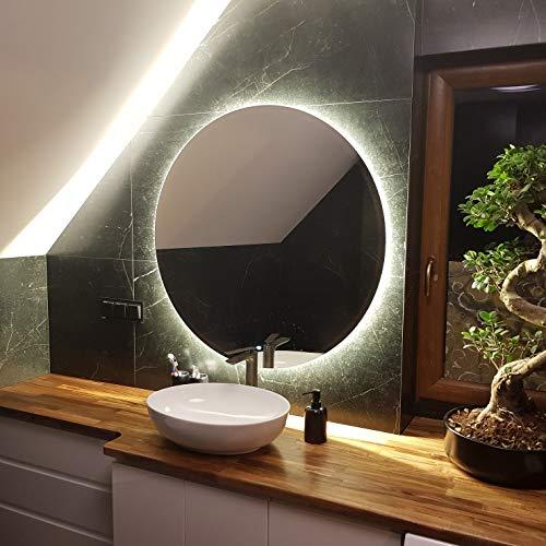 Artforma Rund Badspiegel mit LED Beleuchtung 80cm - Wählen Sie...