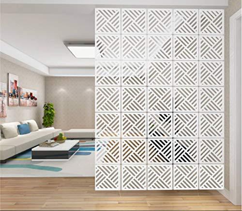 AMIPOS 12 Stück/Set Hängende Raumteiler Weiß DIY Panel Paravents...