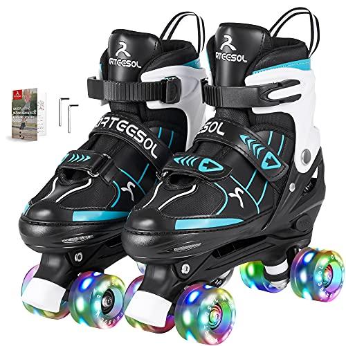 arteesol Rollschuhe Mädchen, mit LED Leuchtenden Rädern Verstellbar...