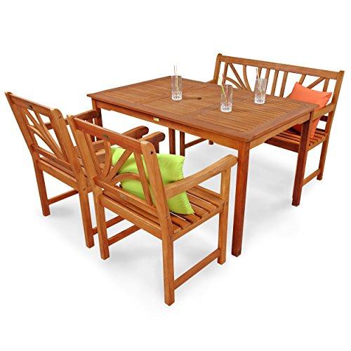 IND-70104-LOSE4GB2 Gartenmöbel Set Lotus, Garten Garnitur Sitzgruppe...