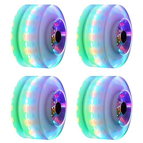 4 LED Leuchtrollen für Quad Skaten, 5 Farben erhältlich, Zubehör...