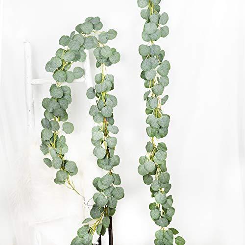 YQing 2 Stück Künstliche Eukalyptus Girlande Pflanze, Eukalyptus...