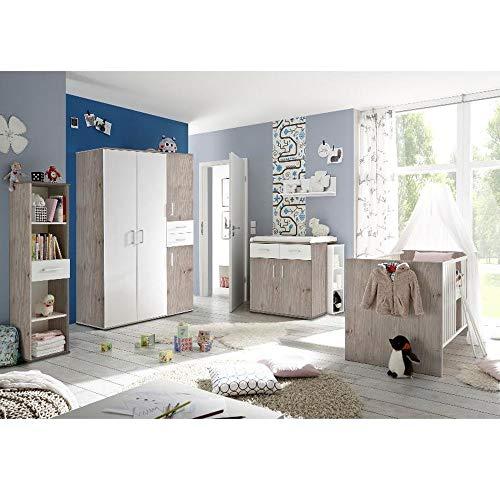 Babyzimmerset Sienna 8tlg. nelson eiche Komplett Set mitwachsend...