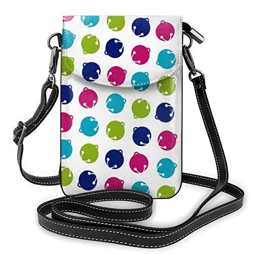 Multifunktionale Handybörse aus Leder, leicht, kleine Schultertasche,...