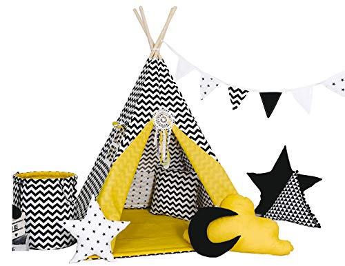 Golden Kids Kinder Spielzelt Teepee Tipi Set für Kinder drinnen...