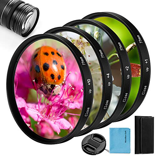 58mm Close-up Nahlinsen Filter Kit, Fotover 4 Stück (+ 1, 2, 4, 10)...