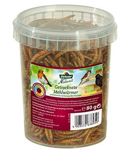 Dehner Vogel-, Nager-, und Fischfuttersnack, getrocknete Mehlwürmer,...