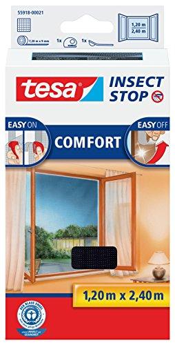 tesa Insect Stop COMFORT Fliegengitter für bodentiefe Fenster -...