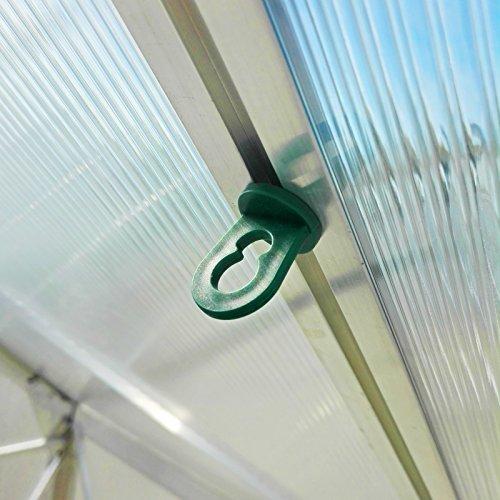 60x Gewächshausclips - Stabile Pflanzenhalter Aufhängevorrichtungen...