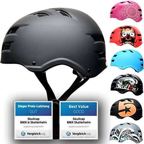 Skullcap® Skaterhelm Erwachsene Schwarz Dark World - Fahrradhelm...