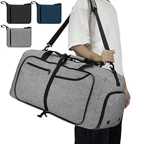 NEWHEY Reisetasche Groß 65L Faltbare Reisetaschen Leichte Sporttasche...