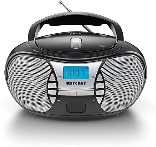 KARCHER RR 5025-B tragbares CD-Radio I CD-Player mit Netz-und...