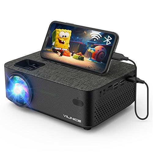 Mini Beamer, VILINICE Heimkino Beamer Full HD, WiFi Projektor mit...