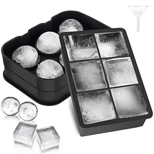 Morfone Eiswürfelform,2 Stück Groß Silikon Eiswürfelform mit...