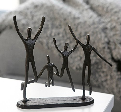 Casablanca - 74572 Design Skulptur Jumping Gußeisen brüniert 22 cm...