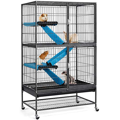 Yaheetech Kleintierkäfig, Metallkäfig für kleine Haustiere,...