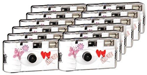 TopShot Love Hearts red Einwegkamera / Hochzeitskamera (27 Fotos,...
