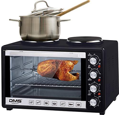 DMS 48 Liter Mini Backofen mit Kochplatten   2 in 1 Küchengerät  ...