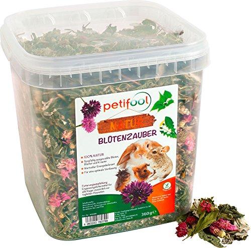 petifool Blütenzauber 360g - Ergänzungsfutter für Nager -...
