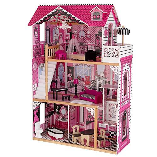 KidKraft 65093 Amelia Puppenhaus aus Holz mit Möbeln und Zubehör,...