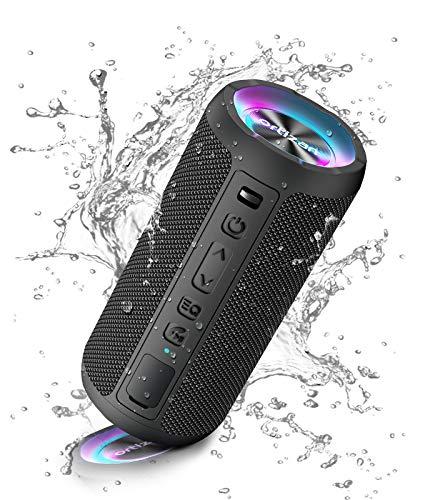 Ortizan Bluetooth Lautsprecher mit Licht, Tragbarer Bluetooth Box mit...