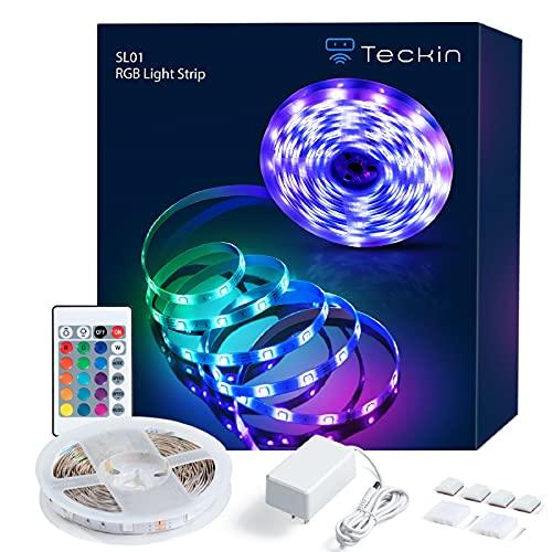 TECKIN LED Strip 5 m, LED Streifen RGB, Farbwechselnder Strip mit...