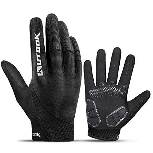 KUTOOK Fahrradhandschuhe Herren Mit Gel Vollfinger MTB Handschuhe...