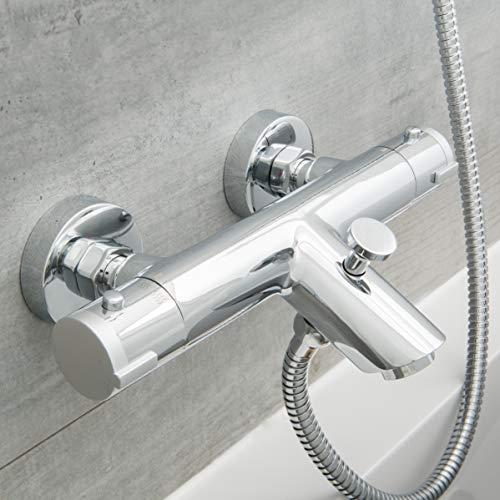 SCHÜTTE 52470 LONDON Badewannenarmatur Thermostat, Wannenarmatur...