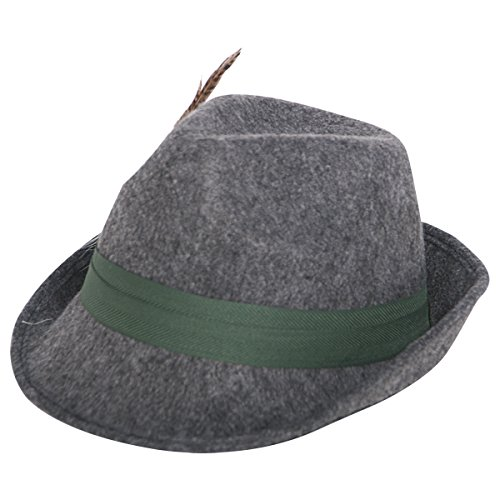 Folat Tiroler Wolle Hat mit Feder (One Size)