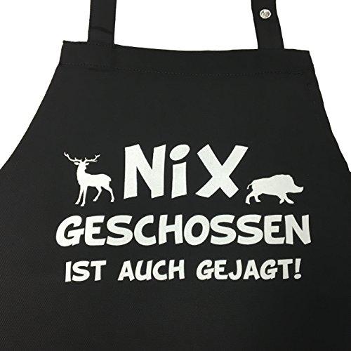 Nix geschossen ist auch gejagt - lustige Grillschürze, Kochschürze -...
