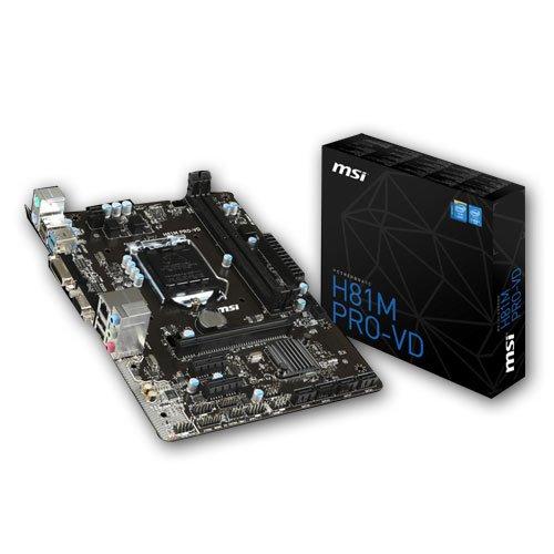 MSI Mainboard H81M PRO-VD mATX LGA 1150 Intel H81 max. 32GB DDR3