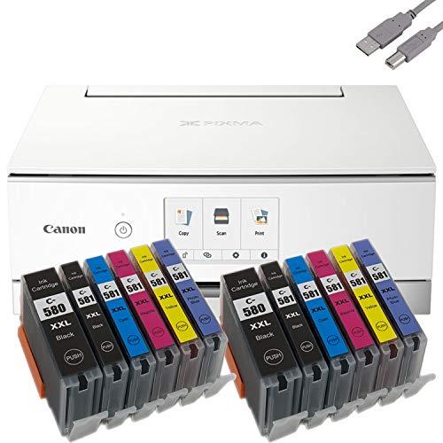 Bundle Canon PIXMA TS8351 Tintenstrahldrucker Multifunktionsgerät...