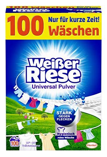Weißer Riese Universal Pulver (100 Waschladungen), Vollwaschmittel...