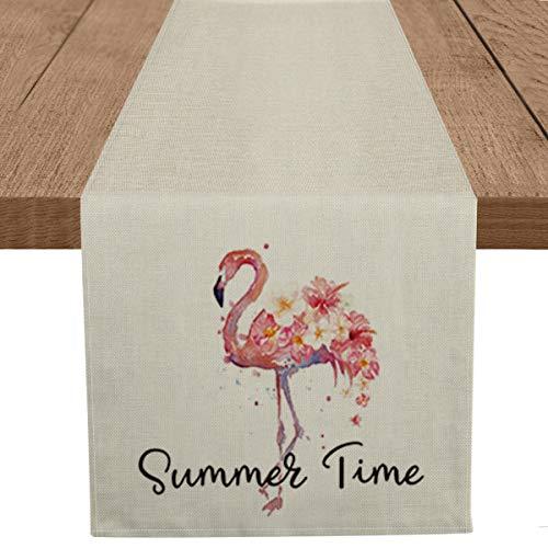 Artoid Mode Summer Time Flamingo Tischläufer, saisonaler Frühling...